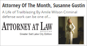 Click image to view story - Attorney of the Month, Susanne Gustin